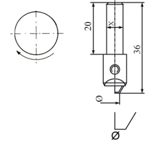 Diamantwerkzeuge für Vertikal Spindel, Drehrichtung: nach links