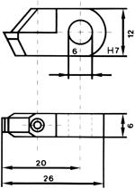 Zeichnung - Halter No. 1000 Posalux-Standard: Passend zu allen Facettenmaschinen