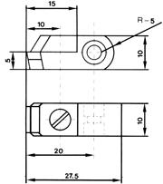 Zeichnung: No. 1200 für Benzinger Kopierfräsmaschine