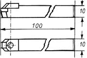 Zeichnung: No. 1500 Halter Glanzdrehdiamant: 10 x 10 x 100 mm