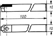 Zeichnung: No. 1600 Halter Glanzdrehdiamant: 10 x 10 x 100 mm Type S